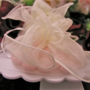 Ivory Organza Favour Bags