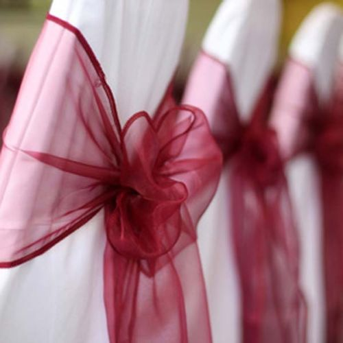 Burgundy Organza Chair Sashes