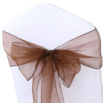Chocolate Organza Chair Sashes