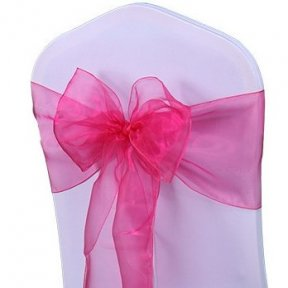 Fuchsia Pink Organza Chair Sashes