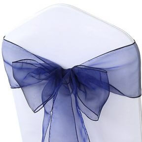 Navy Organza Chair Sashes