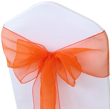 Orange Organza Chair Sashes