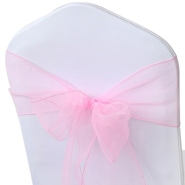 Pink Organza Chair Sashes