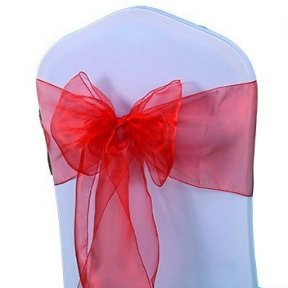 Red Organza Chair Sashes