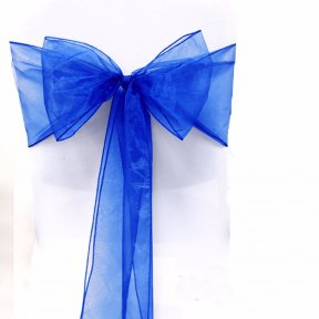 Royal Blue Organza Chair Sashes