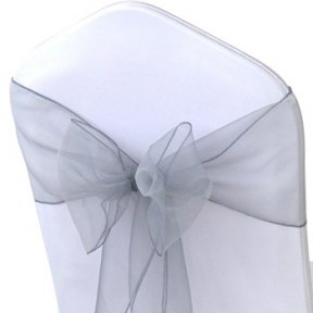 Silver Organza Chair Sashes