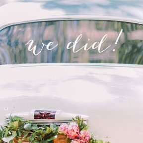 'We Did' Wedding Car Decal