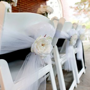 White Tulle Continuous Roll 15cm wide