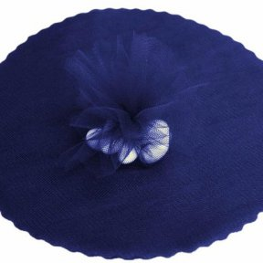 Navy Tulle Circles