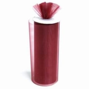 Burgundy Shimmering Organza Rolls
