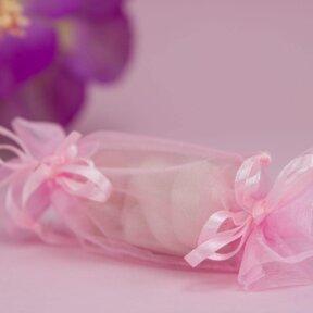 Pink Organza Bon Bons