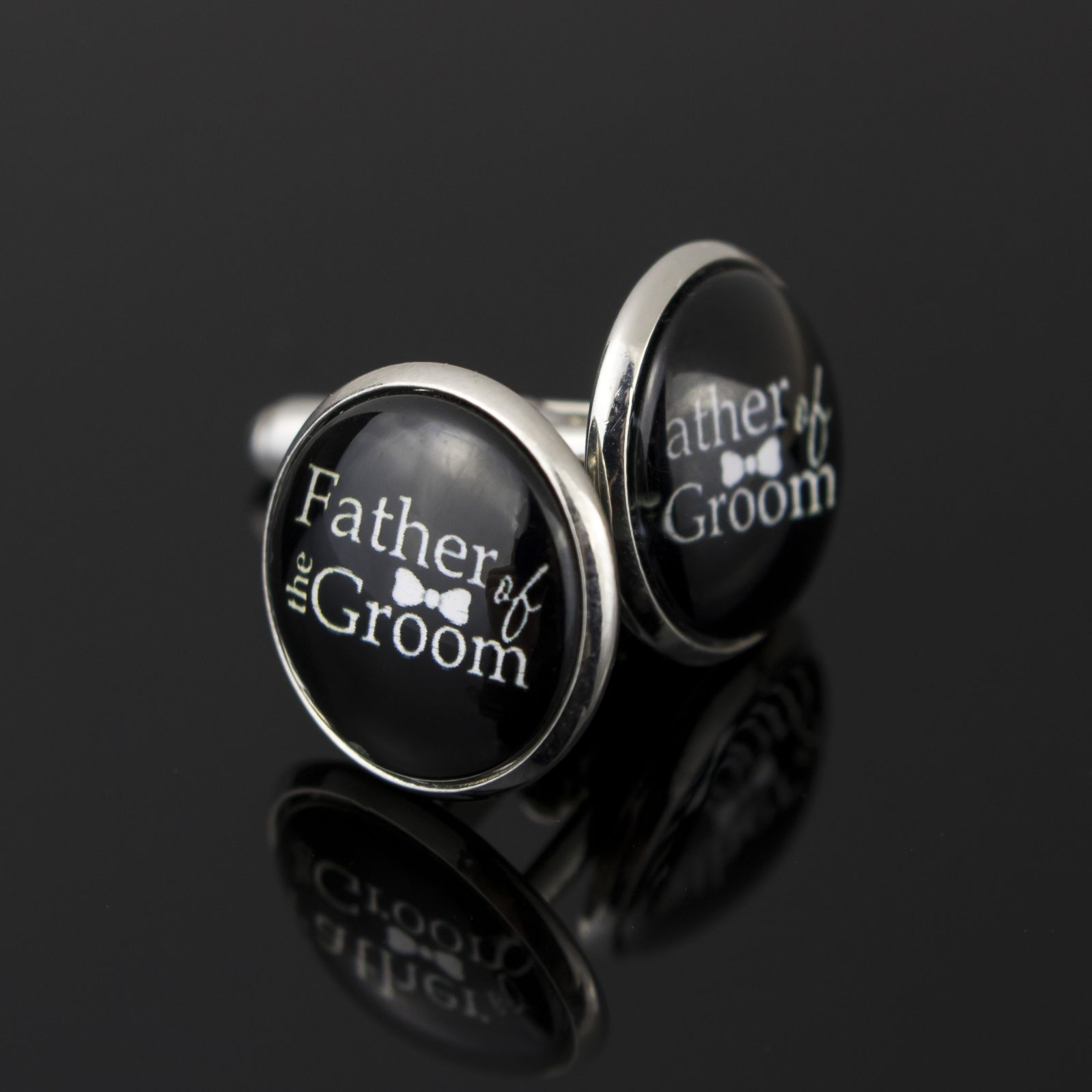 Father Of The Groom Cufflinks (Bow Tie)
