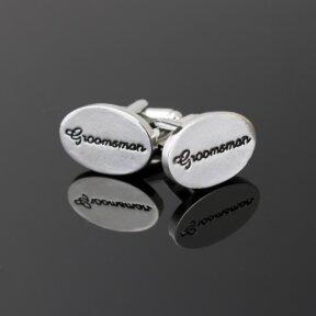 Groomsman Silver Cufflinks