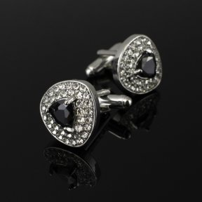 Wedding Cufflinks Black Jewel