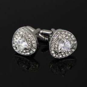 Wedding Cufflinks Diamante Jewel