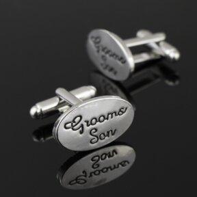 Grooms Son Silver Cufflinks
