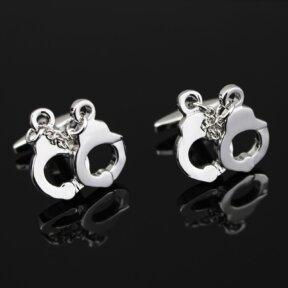 silver handcuffs cufflinks