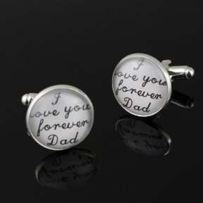 I Love You Forever Dad White Cufflinks