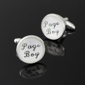 Page Boy White Cufflinks