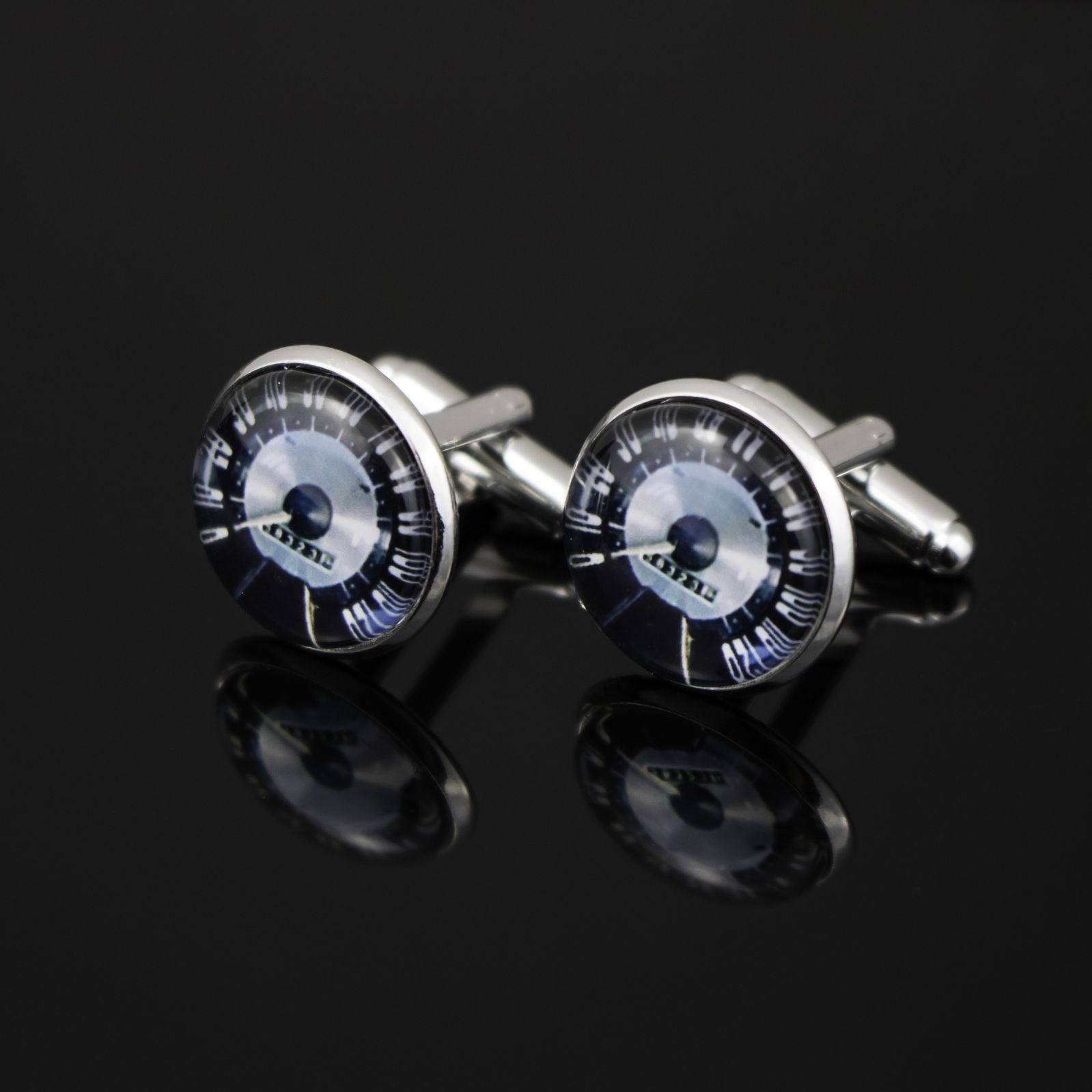 Wedding Cufflinks Classic Speedometer