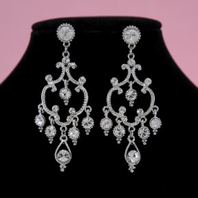 Silver Bridal Earrings