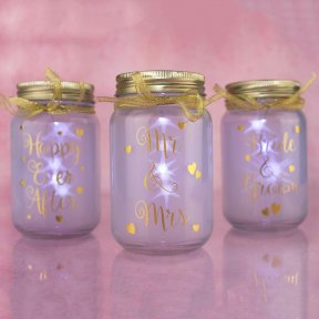 LED Firefly Wedding Jars