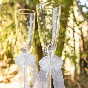 Champagne Bubbles Wedding Flutes