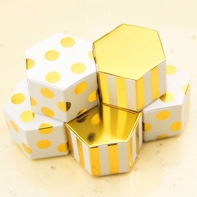 Mini Metallic Gold Boxes