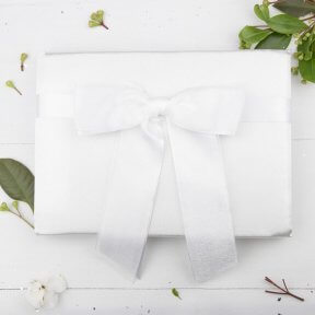 Satin and Organza Bow Guest Book
