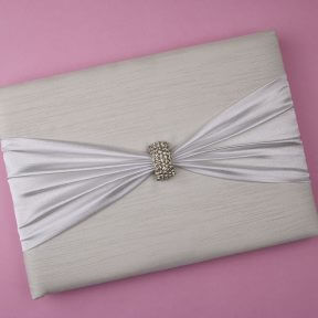 Silver Clasp Wedding Guest Book